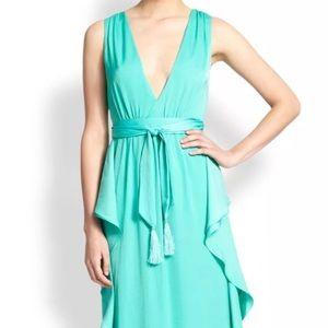 BCBG long turquoise dress - size 12